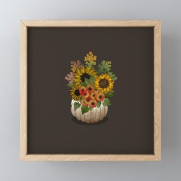 Autumn Bouquet Framed Mini Art Print