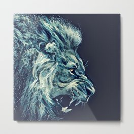 Water Lion Metal Print