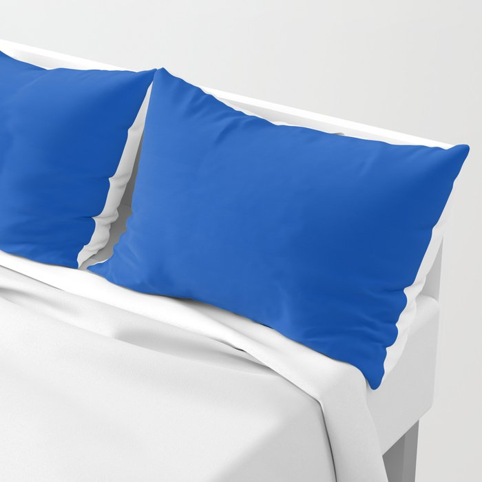 Royal azure - solid color Pillow Sham