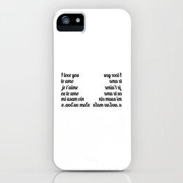 I love you iPhone Case
