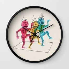 Skeletons Dancing Wall Clock