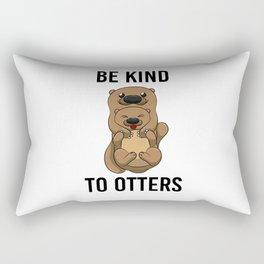 Be Kind To Otters T Shirt Puns Wordplay Animal Pun Rectangular Pillow