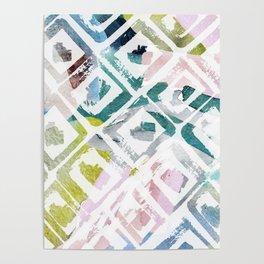 Awash   Colorful Geometric Print Poster