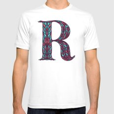 Surgere. MEDIUM White Mens Fitted Tee
