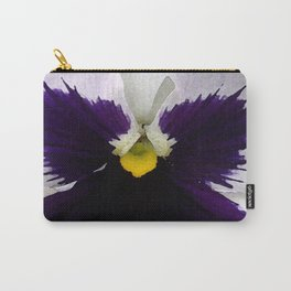 Watercolor of a white and purple pansy  Carry-All Pouch