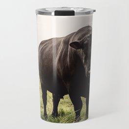 Big Black Angus Bull Travel Mug