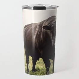 Big Black Angus Bull Travel Mug