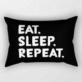 Eat. Sleep. Repeat Rectangular Pillow