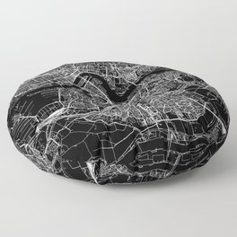 Rotterdam Black Map Floor Pillow