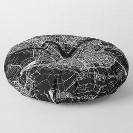 Rotterdam Black Map Floor Pillow