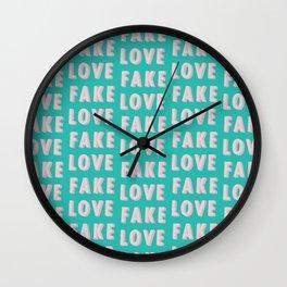Fake Love - Typography Wall Clock