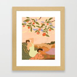 Midday Nap Framed Art Print