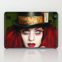 mad hatter iPad Cases featuring The Mad Hatter by María Lawliet