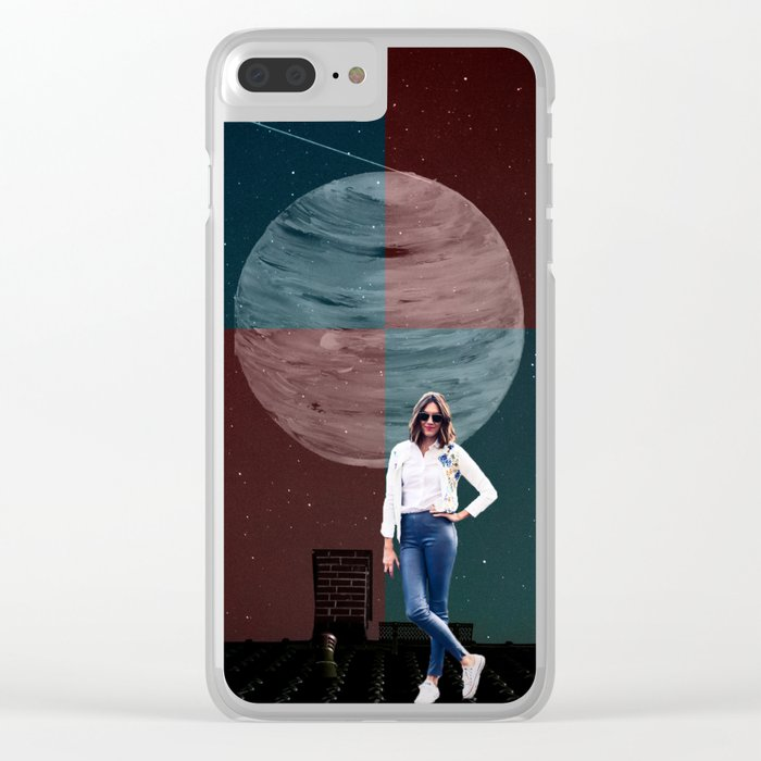 Galactic Rooftop Clear iPhone Case