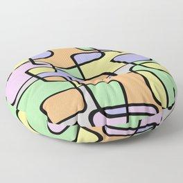 Mid Century Pastel Art Floor Pillow