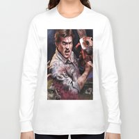 evil dead Long Sleeve T-shirts featuring Ash Evil Dead by John Mungiello