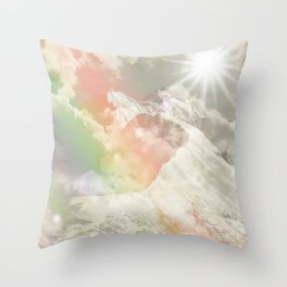Mountains in The Sky Throw Pillow