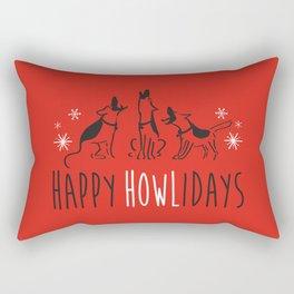 Happy HOWLidays Rectangular Pillow