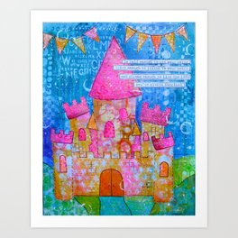 Be Bold, Brave and Strong Art Print