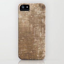 Cement Weathered Brown Abstract Photograph iPhone Case