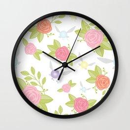 Garden of Fairies Pattern Wall Clock