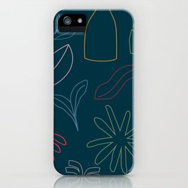 The Kitchen Cabinet -  Fruit Line Drawings iPhone Case