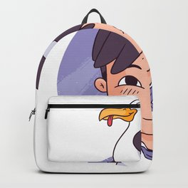 Seagull on the head Backpack
