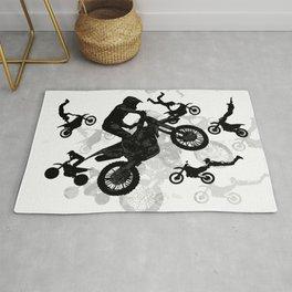 High Flying Stuntmen - Motocross Riders Rug