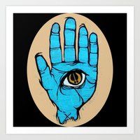 third eye Art Prints featuring third eye by Deerabigale