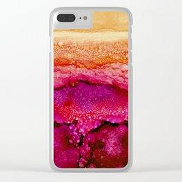 Raspberry Hills, Tangerine Sky Clear iPhone Case