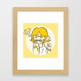 Be Mean Framed Art Print