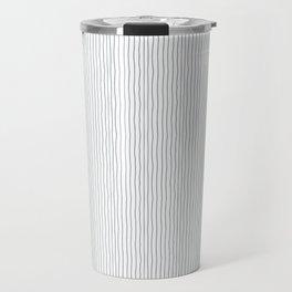 Minimalist black white modern hand drawn stripes Travel Mug