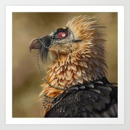 Necrophagy: Bearded Vulture Art Print