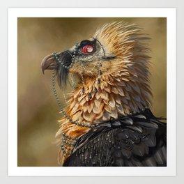 Necrophagy: Bearded Vulture Art Print