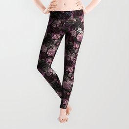 You Are The One // Floral Valentine's Heart Leggings