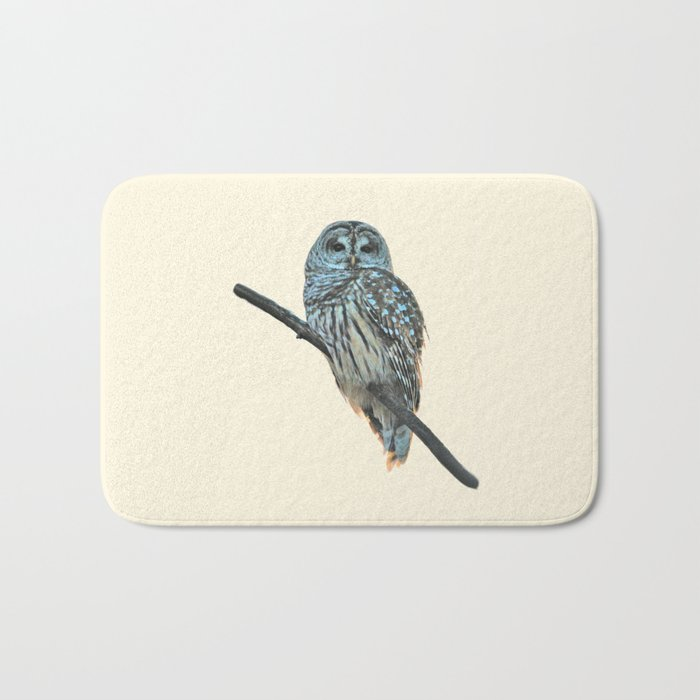 Barred Owl (beige) Bath Mat