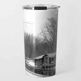 Cabin on the River Travel Mug