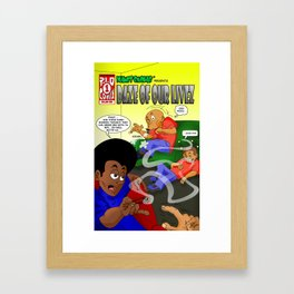 Planet Smokas presents Daze of Our Livez Framed Art Print