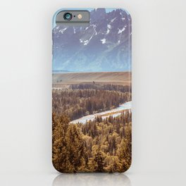 Grand Teton National Park Snake River Overlook Print iPhone Case