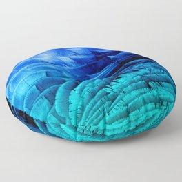 RUFFLED BLUE Floor Pillow