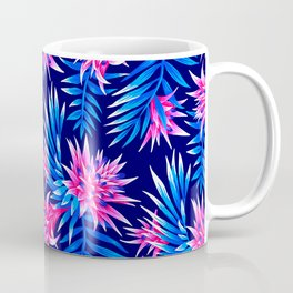 Aechmea Fasciata - Mid Blue/Pink Coffee Mug