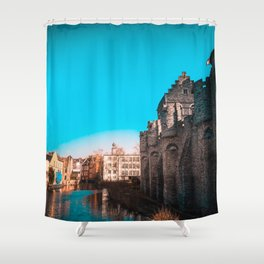 Ghent River View Shower Curtain