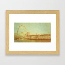 The sun setting on Lower Dean Windmill, Bedfordshite Framed Art Print