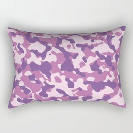 Camouflage Trending Colors Purple Rectangular Pillow