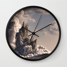 Kilauea Volcano at Kalapana 3b Wall Clock