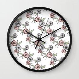 Retro roses. Wall Clock