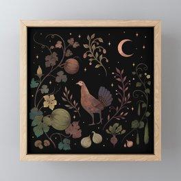 Wild Chicken with Autumn Vines Framed Mini Art Print