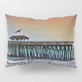 Myrtle Beach State Park Pier - Photo as Digital Paint Pillow Sham