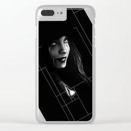 Cyborg Beauty Clear iPhone Case