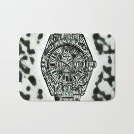 Cowhide Background Diamond Watch Bath Mat